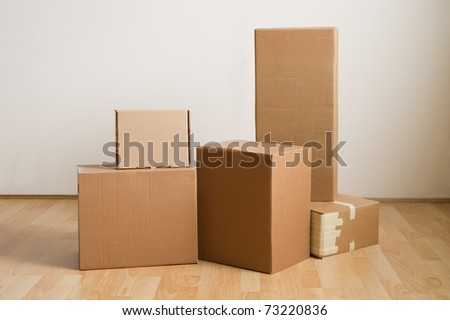 Moving Boxes - stock photo