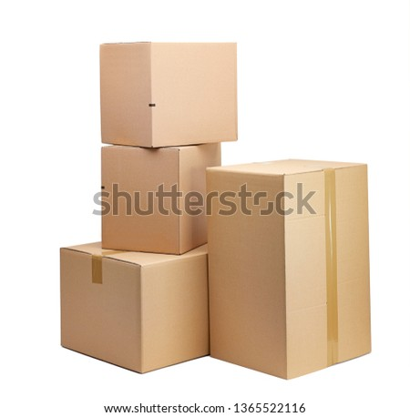 moving boxes in front of a white background  #1365522116