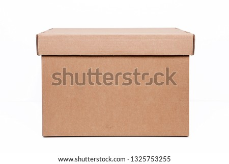 Moving boxes. Real estate concept.