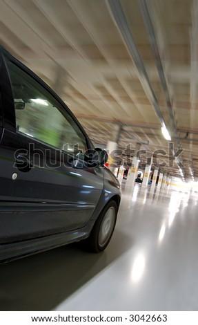 Moving car at high speed, motion sensation