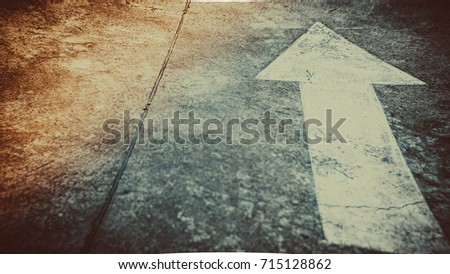 moving forward concept, arrow direction to move forwards