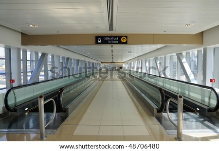 Moving Walkway at Metro Station in Dubai, United Arab Emirates #48706480