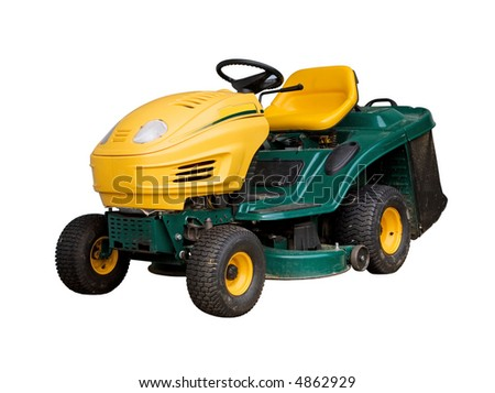 Mowing machine, isolated on white background.