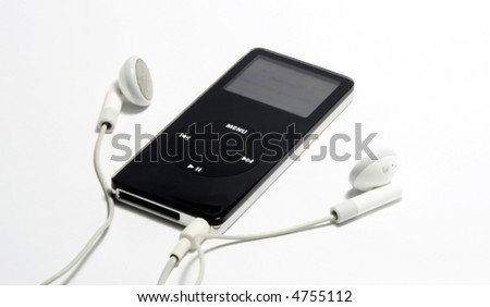 mp3 audio player - stock photo