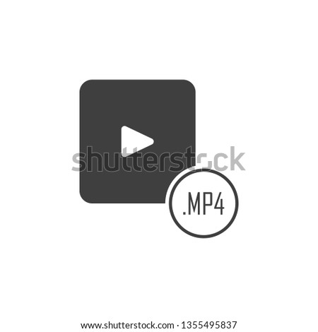 mp4 file icon. One of the collection icons for websites, web design, mobile app
