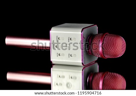 mp3 microphone on black background