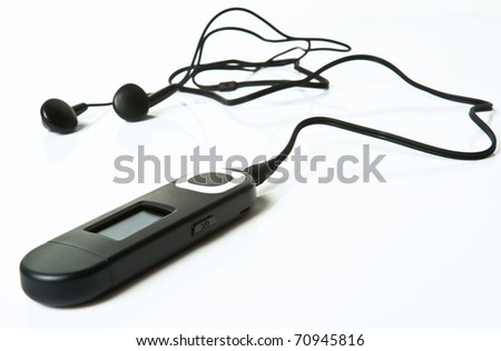 mp3 player  isolated on a white background