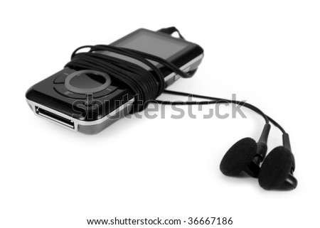 Mp3 Player, isolated on white