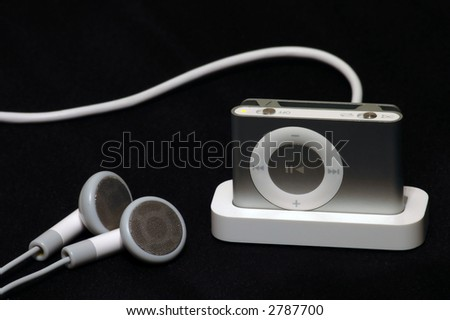 mp3 player on dock charging