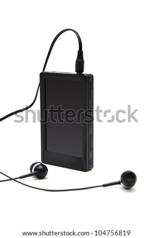 mp4 player with white background