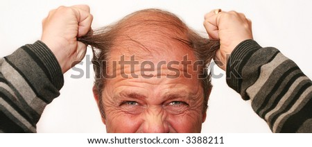 Mr Angry pulls his Hair out in frustration
