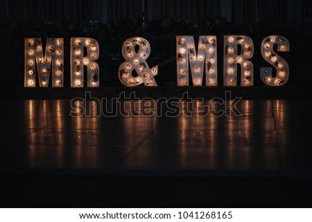 Mr & Mrs Marquee Letters Night  #1041268165