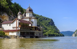 Mraconia Monastery is the only Romanian monastery built between the rocky banck of the Danube located 15 Km west of the romanian town Orsova