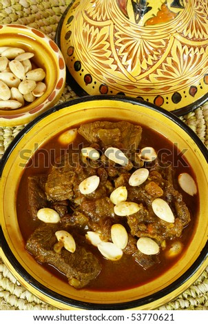 Mrouzia - Moroccan Tagine with Raisins, Almonds and Honey