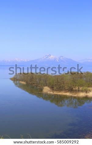 Mt.Bandai and Inawashiro Lake, Fukushima, Japan