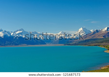 Mt Cook and the Southern Alps in New Zealand