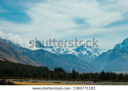 Mt Cook area in New Zealand #1380771581