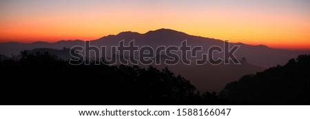 Mt. Diablo dawn panorama taken from Lafayette, California Foto stock ©