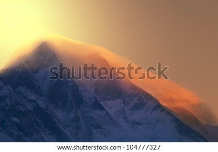 mt. Everest at sunrise