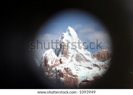 Mt. Everest through scope