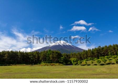 Mt Fuji Japan  ストックフォト ©