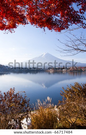 Mt. Fuji smile in winter