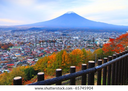 Mt. fuji view from chureito pagoda, Japan