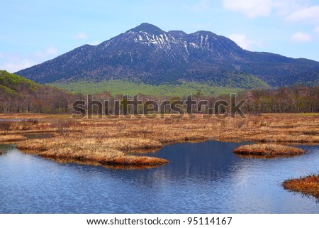 Mt.Hiuchigatake of Oze national park in japan