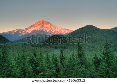 Mt Hood at Sunset
