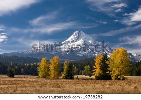 Mt. Hood, in Oregon state in the fall.