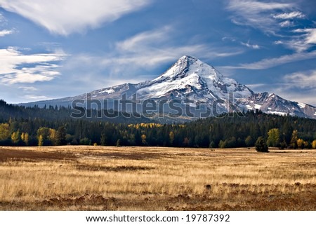 Mt. Hood in Oregon State in the Fall.