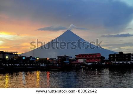 Mt. Mayon at Twilight - Albay, Philippines