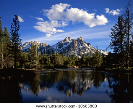 stock photo : Mt. McGown in the Sawtooth National Forest of Idaho.