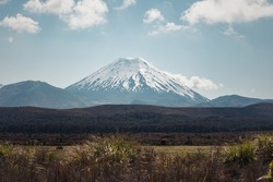Mt. Ngauhuroe, also known as Mt. Doom from the Lord of the Rings trilogy. This mountain was used as the Dark Lord Sauron's place to create the one ring.