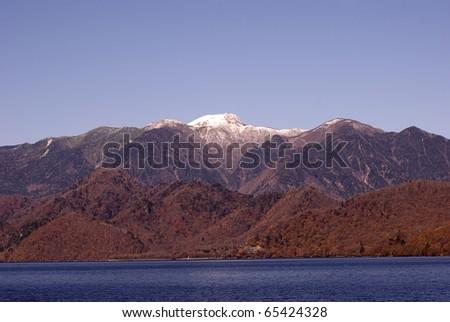 Mt. Shirane behind Lake Chuzenji, Nikko National Park, Japan