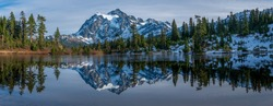 Mt Shuksan reflection in lake