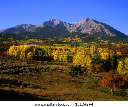 Mt. Sopris in the White River National Forest, Colorado.