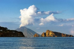 Mt. Stromboli (one of the eight Aeolian Islands)