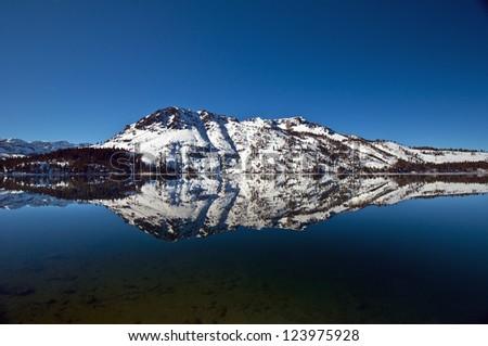 Mt. Tallac reflection in fallen leaf lake