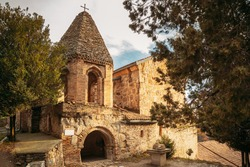 Mtskheta, Georgia. Church Of St John The Baptist In Shio-Mgvime Monastery. Medieval Monastic ShioMgvime Complex In Limestone Canyon.
