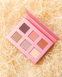 MUA and girly concept. Eyeshadow palette, eye shadows cosmetics product as luxury beauty brand promotion. Fashion blog design. Contouring palette. Makeup palette close up