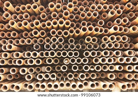 Much of drill pipes as excellent for background - stock photo