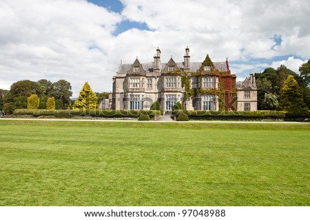 Muckross House in National Park Killarney -  Ireland.