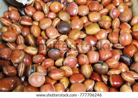 Mucuna seed (olho de boi) – Central Market of Belo Horizonte, Brazil #777706246