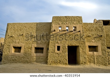 mud brick house in siwa oasis, egypt