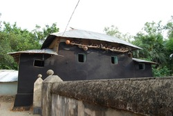 Mud house in West Bengal, India