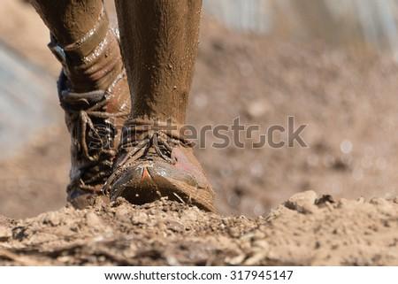 Mud race runners #317945147