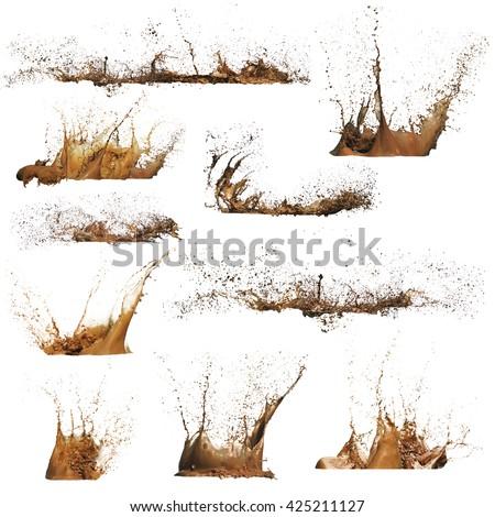 Mud Splashes isolated #425211127