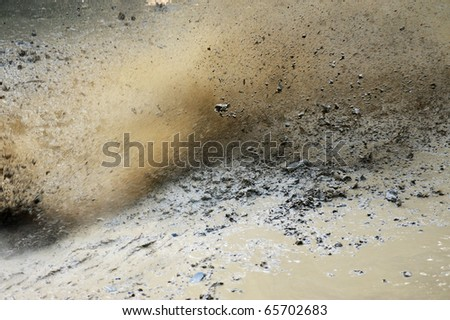 Mud splashing with high speed