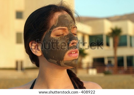Mud treatment at the Dead Sea, Israel.